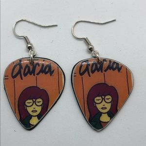 DARIA guitar pic vinyl earrings